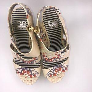"""Giani Bini Shoes - 5"""" Wedge Sandals sz 8.5"""